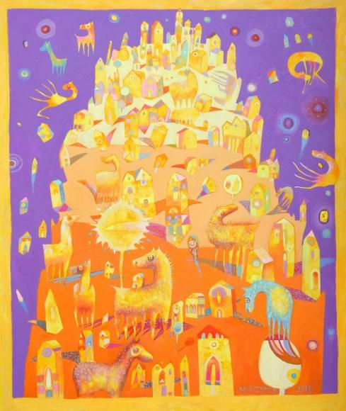 Koniostworki i inne niestworzone opowieści - wystawa Grzegorza Skrzypka Sztuka, LIFESTYLE - Stare podania mówią o krwiożerczym plemieniu Psiogłowych, słowiańskich wąpierzach czy wilkołakach; czy jednak ktokolwiek słyszał o sympatycznie brzmiących koniostworkach?