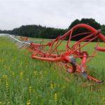 Maszt pomiarowy farmy wiatrowej w Wyczechowie został zniszczony.